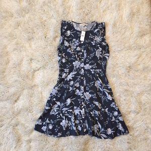 Loft Floral Sleeveless Dress - Size 4